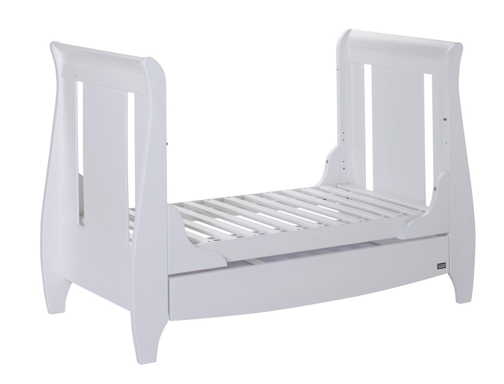 Tutti Bambini - Lucas Cot Bed White with Sprung Mattress - The Stork Has Landed
