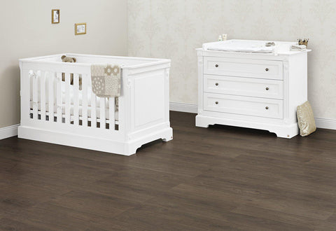 Pinolino Emilia 2 Piece Set - Cot and Changing Unit - The Stork Has Landed