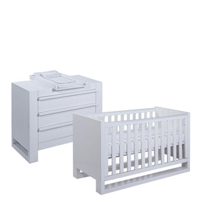 Tutti Bambini Rimini 2 Piece Set - High Gloss White - The Stork Has Landed