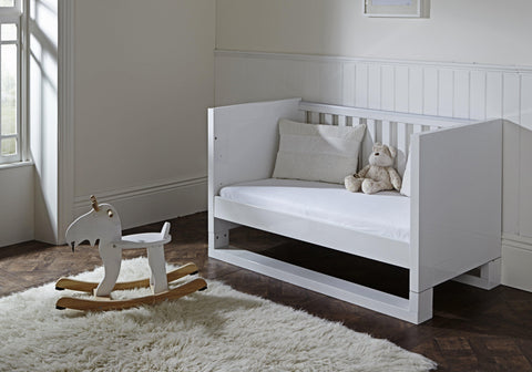 Tutti Bambini - Rimini High-Gloss Cot Bed with Sprung Mattress - The Stork Has Landed