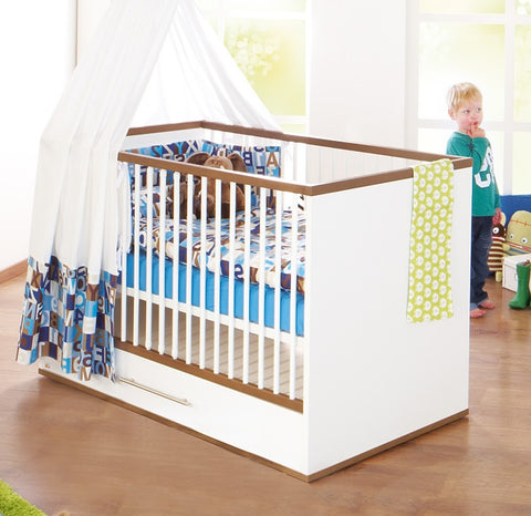 Image of Pinolino Tuula Cot Bed - The Stork Has Landed
