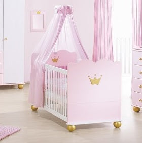 Pinolino 'Karolin Princess' Cot Bed - The Stork Has Landed
