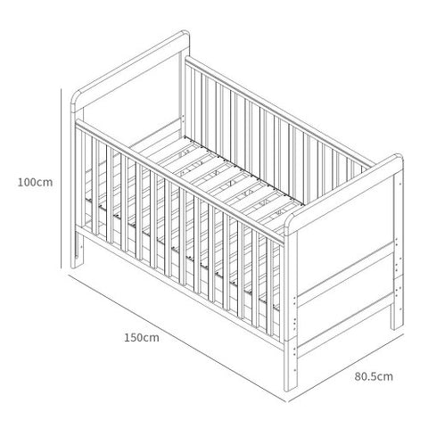 Image of Tutti Bambini Bears Cot Bed with Sprung Mattress - The Stork Has Landed