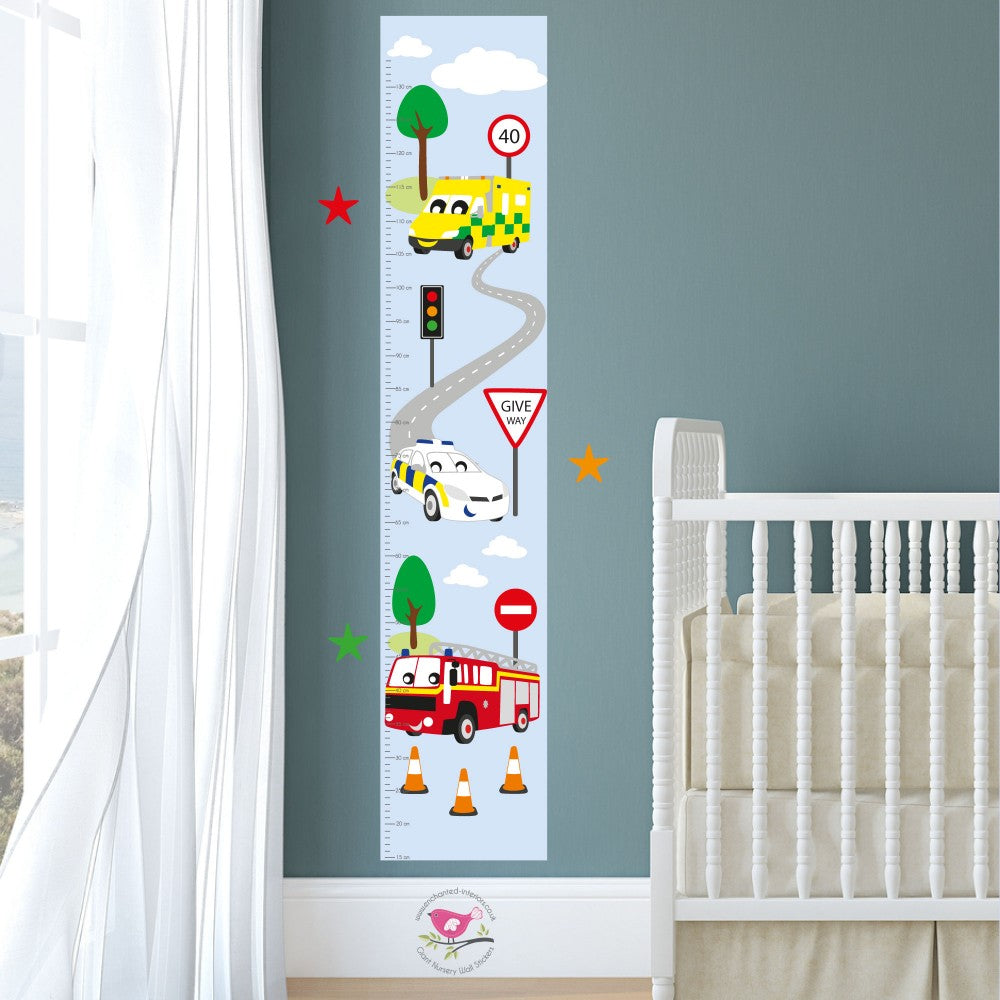 Emergency Services Kids Growth Chart - The Stork Has Landed