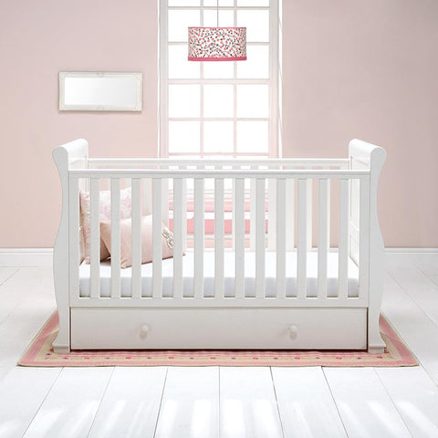 Image of East Coast - Alaska Sleigh Cot Bed - White - The Stork Has Landed