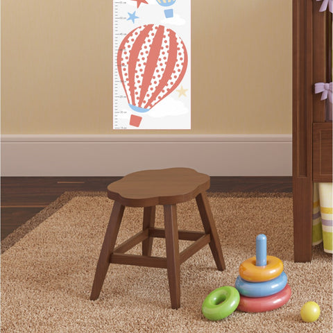 Image of Hot Air Balloon Kids Growth Chart - Neutral - The Stork Has Landed