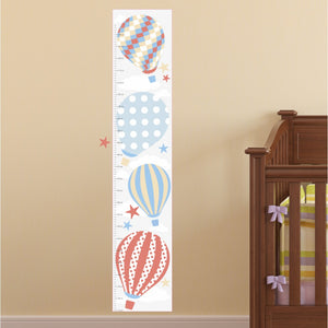 Hot Air Balloon Kids Growth Chart - Neutral
