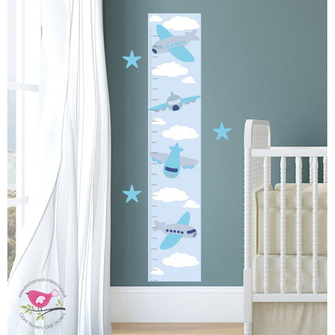 Image of Jets and Planes Growth Chart Decal - The Stork Has Landed