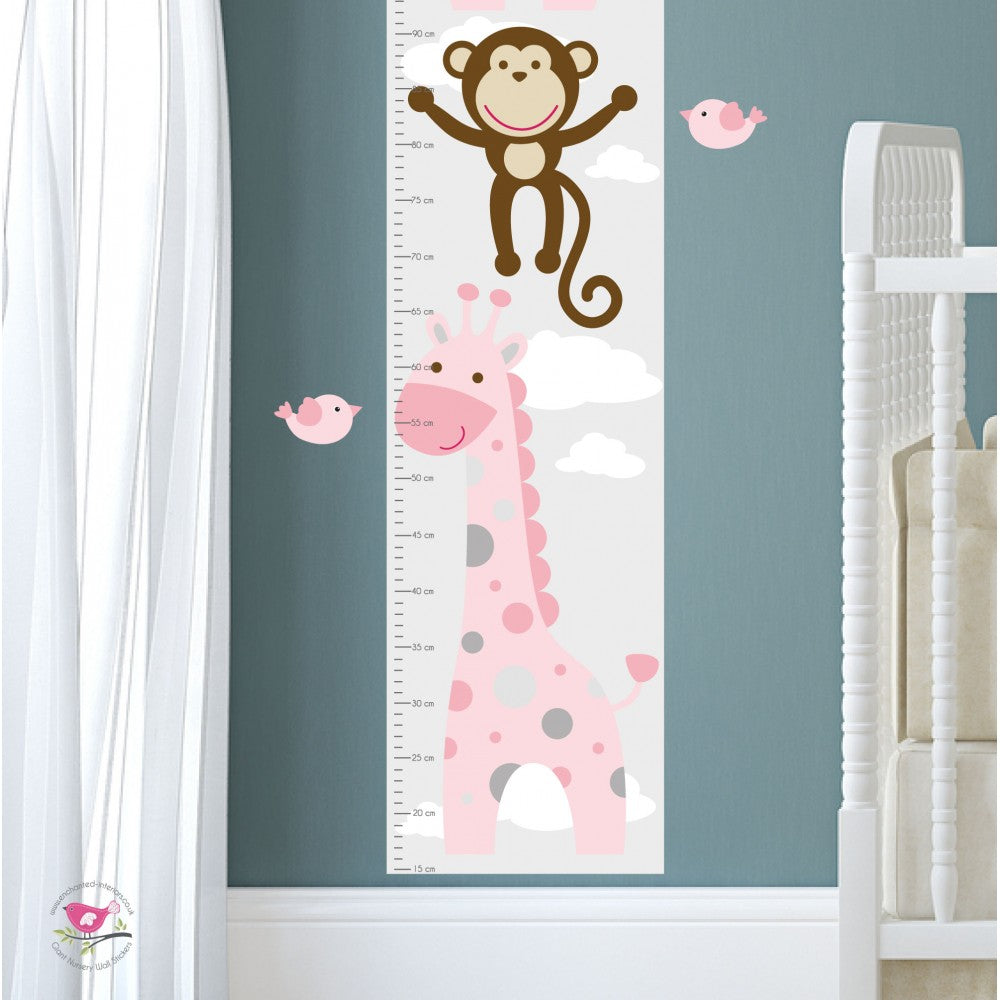 Jungle Wall Art Decals, Pink and Grey Nursery