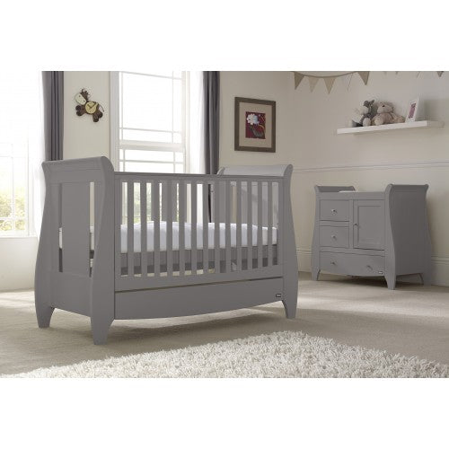 Tutti Bambini - Katie 2 Piece Set, Grey with Sprung Mattress - The Stork Has Landed