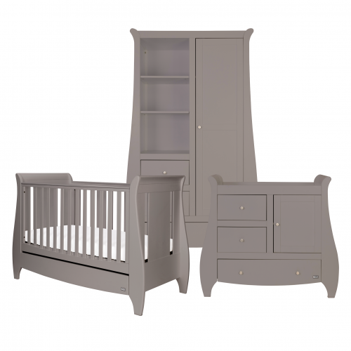 Tutti Bambini Katie 3 Piece Set, Grey with Sprung Mattress