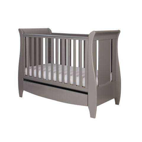 Image of Tutti Bambini - Katie Cot Bed, Cool Grey with Sprung Mattress - The Stork Has Landed