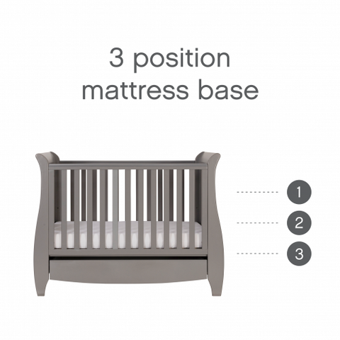 Image of Tutti Bambini - Katie 2 Piece Set, Grey with Sprung Mattress