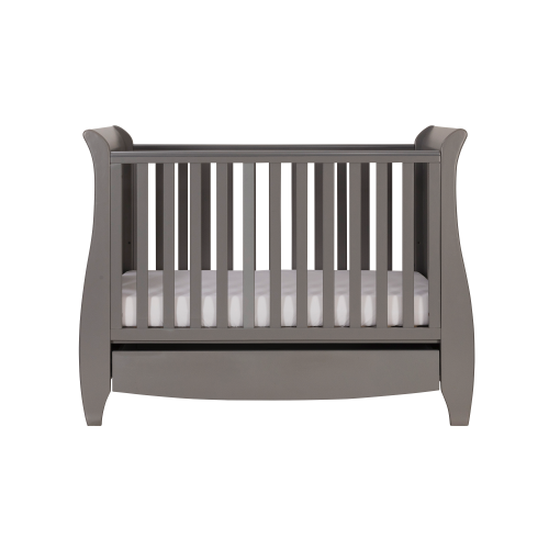 Tutti Bambini - Katie Cot Bed, Cool Grey with Sprung Mattress - The Stork Has Landed