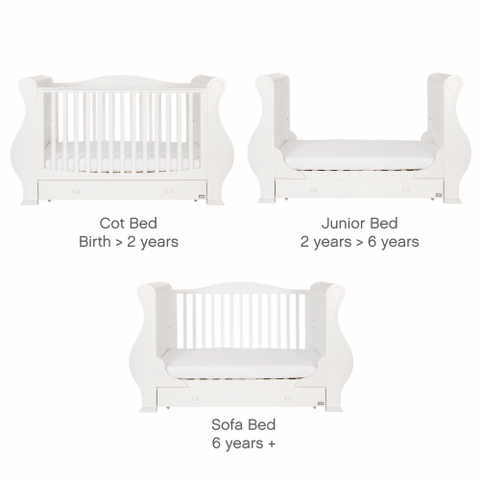 Image of Tutti Bambini - Louis Cot Bed in White - The Stork Has Landed