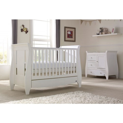 Tutti Bambini - Lucas Cot Bed White with Sprung Mattress