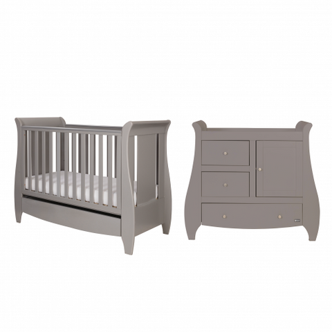 Tutti Bambini - Lucas Grey 2 Piece Set with Sprung Mattress