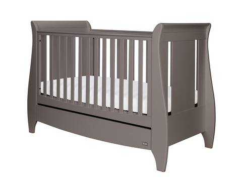 Tutti Bambini - Lucas Cot Bed Cool Grey with Sprung Mattress