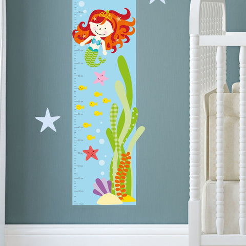 Image of Mermaid Growth Chart Decal