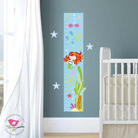 Mermaid Growth Chart Decal