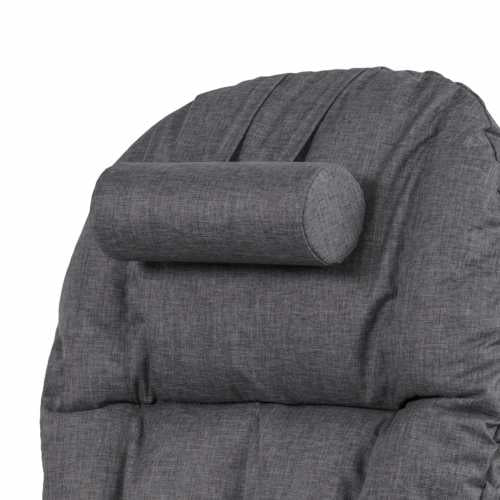 Daisy Deluxe Reclining Glider Chair & Stool - White/Charcoal