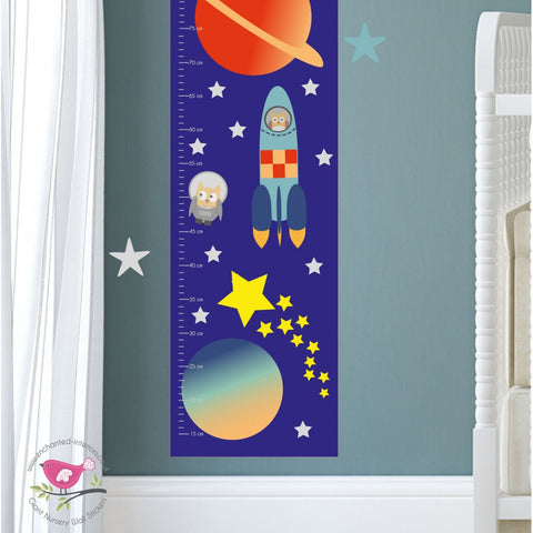 Image of Outer Space Kids Growth Chart