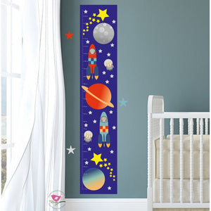 Outer Space Kids Growth Chart - The Stork Has Landed