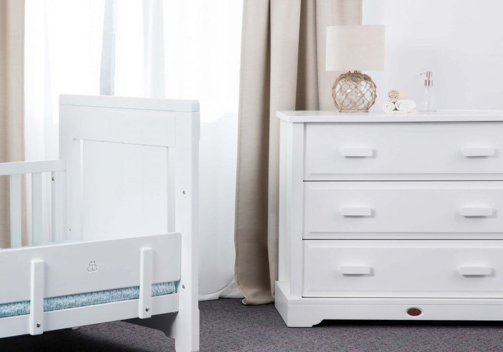 Boori 3 Drawer dresser (with Arched Changing Station) - White
