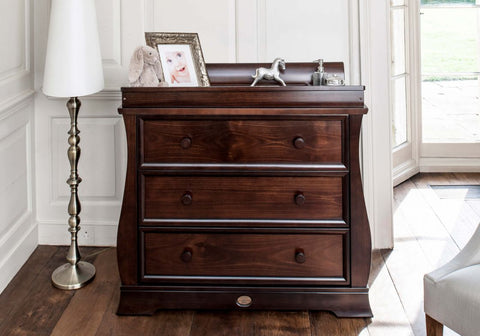 Image of Boori Sleigh 3 Drawer Dresser - Coffee - The Stork Has Landed