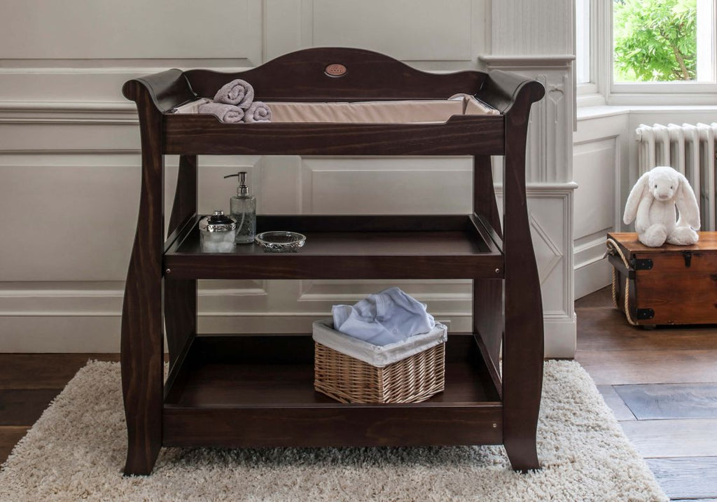 Boori Sleigh 3 Tier changer - English Oak - The Stork Has Landed
