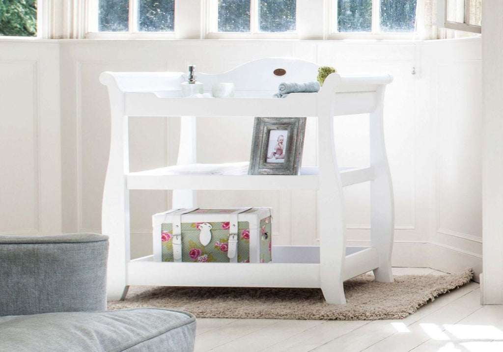 Boori Sleigh 3 Tier changer - White - The Stork Has Landed