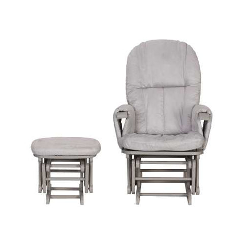 Image of Tutti Bambini Reclining Glider Chair + stool - Grey/Grey