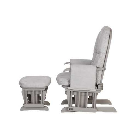 Image of Tutti Bambini Reclining Glider Chair + stool - Grey/Grey - The Stork Has Landed