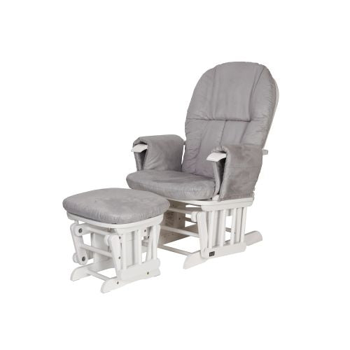 Terrific Tutti Bambini Recliner Glider Chair Stool White Grey Squirreltailoven Fun Painted Chair Ideas Images Squirreltailovenorg