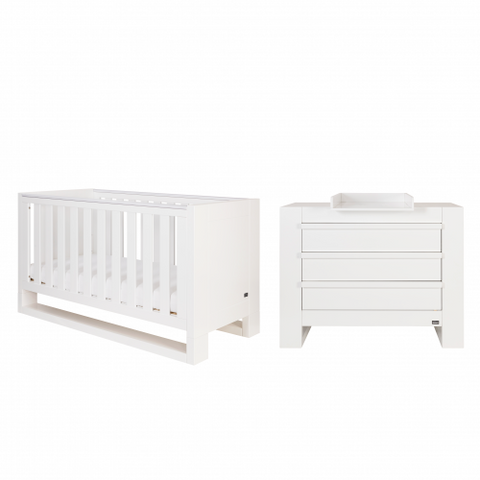 Image of Tutti Bambini Rimini 2 Piece Set - High Gloss White - The Stork Has Landed