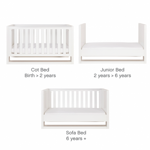 Image of Tutti Bambini - Rimini 3 Piece Room Set with Sprung Mattress