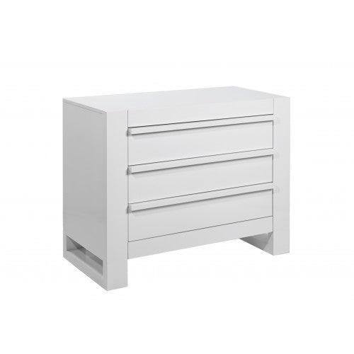 Tutti Bambini - Rimini Chest Changer - Gloss White - The Stork Has Landed