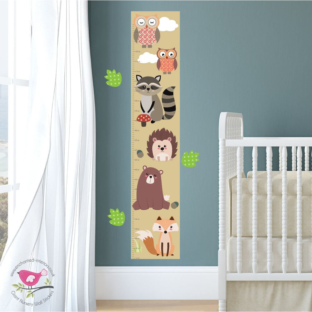 Woodland Animal Growth Chart Decal - The Stork Has Landed