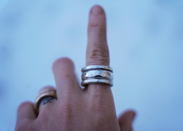 Brick house Drifter Ring. Sterling Edition.11.5