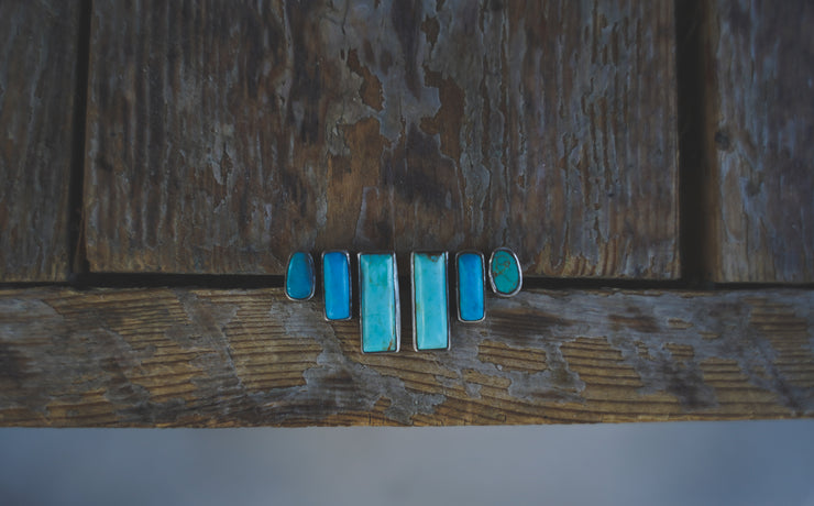 Anew Climber Earrings. American Mined Turquoise goodness