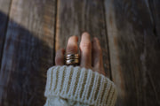 Brick house Drifter Ring. Gold fill. 9