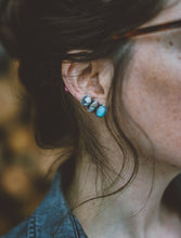 Load image into Gallery viewer, Climber Earrings. American Mined Turquoise goodness