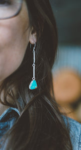 Sticks and Stones Earrings. Turquoise + Reclaimed sterling silver.