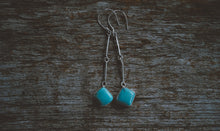 Load image into Gallery viewer, Sticks and Stones Earrings. Turquoise + Reclaimed sterling silver.