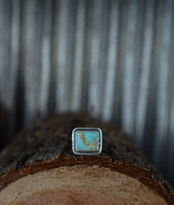 Into the Blue Ring. 6.5. American Mined Turquoise + Reclaimed sterling silver.