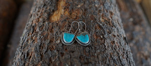 High Alpine Earrings. Turquoise + Reclaimed sterling silver.