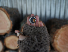 Load image into Gallery viewer, Sliver of the Moon Ring. 5.5. Baltic Amber + Reclaimed sterling silver.