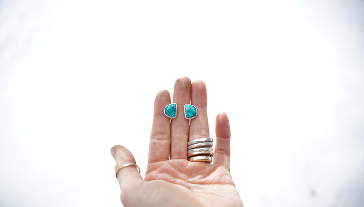 Mesa  Earrings. American Mined Turquoise goodness