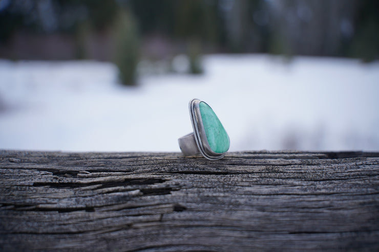Blue Water Ring.  8.75