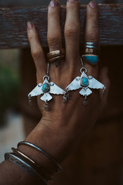 Birds of the Cosmos. Turquoise.